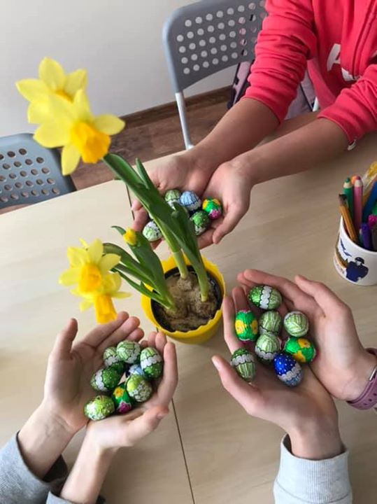 Egg hunt, a lot of fun and talented students just …